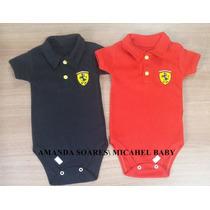 Body Gola Polo Infantil Ferrari Kit 2 Peças