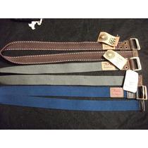 Cinturones Marca Levi´s. En Tela, Hebilla Corrediza. Talla M