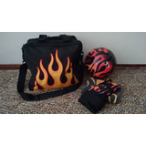 Pelota De Bowling Orange Flame 14lb +bolso+guante+toalla