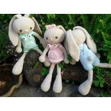 Conejos Tejidos A Crochet En Hilo De Algodón Amigurumis