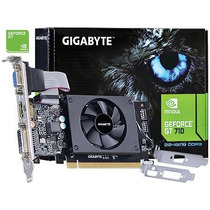 Placa De Video Nvidia Geforce Gt 710 Low Profile 2gb Dd3 64