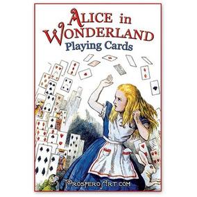 Alicia En El País De Las Maravillas Playing Cards - Red Bac