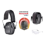 Kit Abafador Auditivo L0f Premium + Óculos Uvex A700 Clear