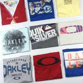 Kit 4 Camisa Camiseta Oakley Quiksilver Tam P/m/g/gg