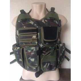 Capa De Colete Tatico Swat Com Camelback Camuflado