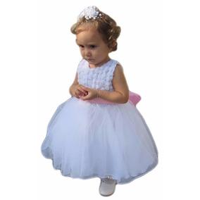 Vestido De Festa Dama Formatura Princesa Branco Curto + Luva