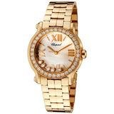 Chopard Reloj De Las Señoras De Oro 18k De Diamantes De Oro