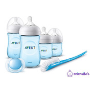 Kit Set De 4 Teteros Avent Linea Natural Gratis Cepillo