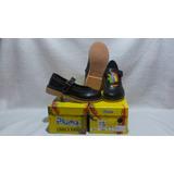 Zapato Escolar Negro De Niña Nº 34,35,36,37 Pluma Cuero