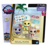 Littlest Pet Shop - Luau En La Playa - Pet Shop #251 A #253