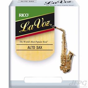 Palhetas Rico La Voz P/ Sax Alto Medium (caixa C/ 10)