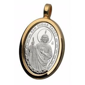 Cadena Y Medalla San Judas Tadeo Plata Ley .999
