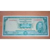 Excelente Billete 20 Bs. Año 1974