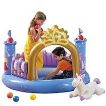 Castillo Inflable Intex Con Unicornio Inflable Adicional