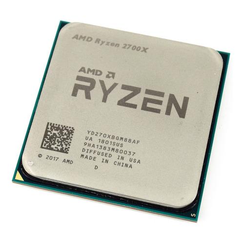Processador gamer AMD Ryzen 7 2700X YD270XBGAFBOX de 8 núcleos e 4.3GHz de frequência