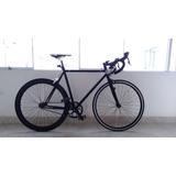Bicicleta Fixie Piñon Fijo 6ku Crmo C/frenos Shimano
