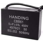 3 Unids Capacitor De Partida 5uf X 450vac Fio Cbb61 40/70/21