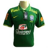 Camiseta Polo Brasileira Modelo Passeio-treino Masculino 18