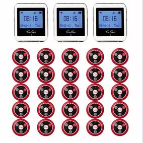 Kit Com 25 Campainhas Chama Garçon +3 Relógio Função Vibra