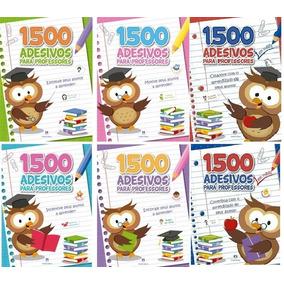 Kit Com 06 Livros 1500 Adesivos Para Professores