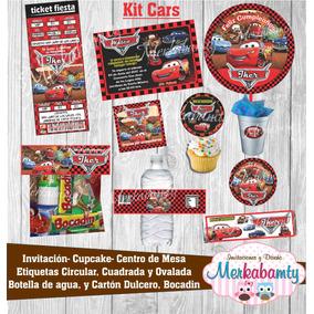 Invitacion Cumpleaños Cars Kit Imprimelo Tú!!