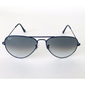 Gafas Ray Ban Aviador3025 Largemetal 088/3f Gris Azul Oscuro