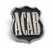 Acab Pin Anti Pacos All Cops Are Bastards Escudo