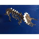 Dinossauro Estiracossauro Quebra Cabeça Puzzle 3d Mdf Cru