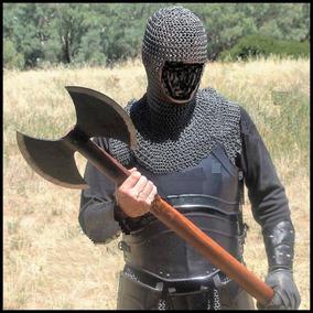 Machado Medieval Gigante - Duas Cabeças Funcional Com Fio