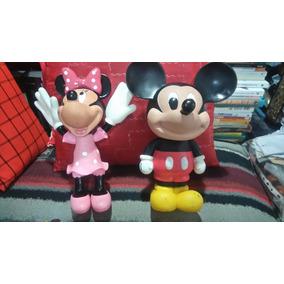 Único Combo De Mickey Mouse Y Minnie Mouse Plástico Duro