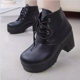 Bota Boots Coturno Salto Tratorado Importado