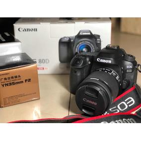 Camara Digital Canon Eos 80d Nueva + Objetivos 50mm , 35mm..
