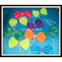 Pack Cotillon 10 Moños Locos Tela Jersey Bondeada