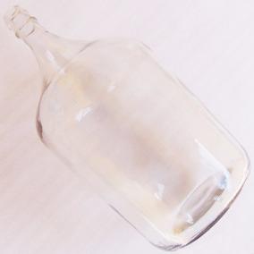 Garrafão Antigo Vidro Transparente Branco Decoração Coleção