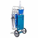Carrito Porta Reposera Carro Playero Aluminio Mor 65-227