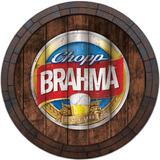 Quadro Tampa De Barril Vintage Cerveja Whisky Brahma