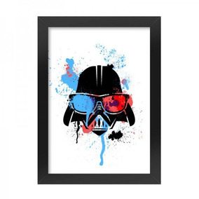 Poster Com Moldura Star Wars Darthpop