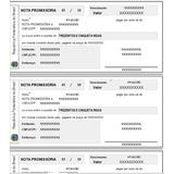 Planilha De Emissão De Notas Promissórias Editáveis