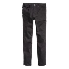 Pantalon Jean H&m Negro Skinny Slim Burgues Levis Zara Bowen