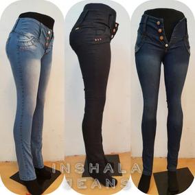 Pantalon Jean Elastizado Dama Cintura Ancha Calce Perfecto