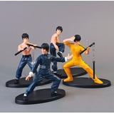 Bruce Lee 4 Bonecos Colecionáveis Kung Fu