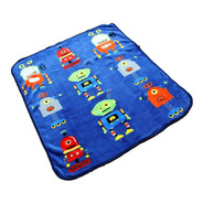 Cobertor Ligero Infantil 1.00x1.30 Suave Cálido Robots