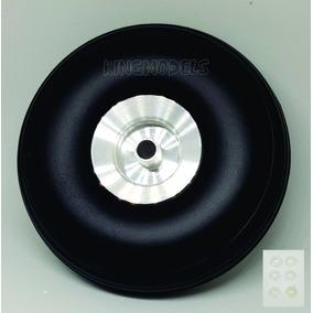 Roda De Borracha E Cubo Alumínio- Aero Glow/gasolina-101mm