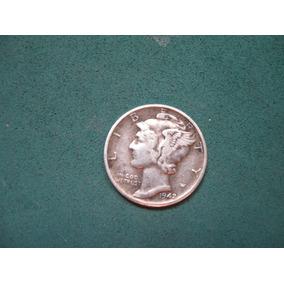 Moneda One Dime 1942, Estados Unidos, Km# 140 De Plata