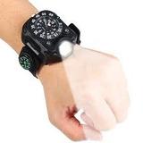 Relógio Masculino Led Lanterna Tático Ponteiros ! C Caixa!