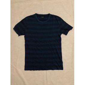 94c312ede9522 Remera Zara Man A Rayas Negro Y Azul Oscuro Tipo Remeron