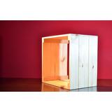 Cubo De Madera 30x30 Pintado - Color A Elección