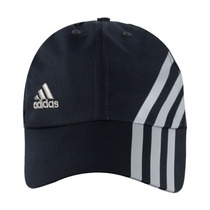 Boné Adidas Microfibra 3 Preto Ótimo Para Praticar Esporte