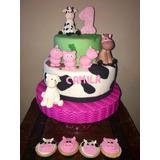Torta Cumpleaños, Granja, Animalitos, 15 Años, Casamientos