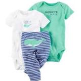 Conjunto Algodon Carter´s Niño Azul-blanco Pantalón Largo